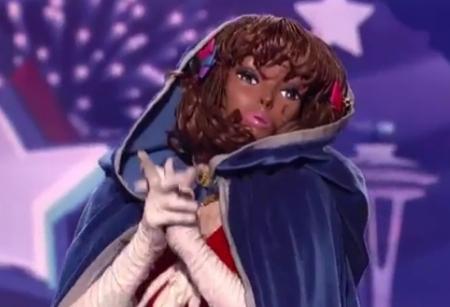Narcissister performance on America's Got Talent, screen grab