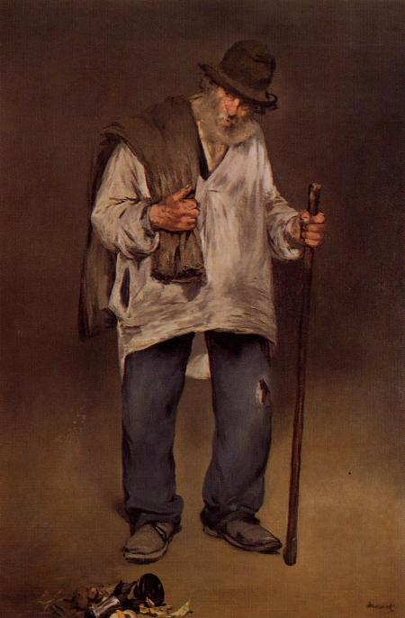 Édouard Manet, The Ragpicker, c. 1865-1870, oil on canvas, The Norton Simon Foundation